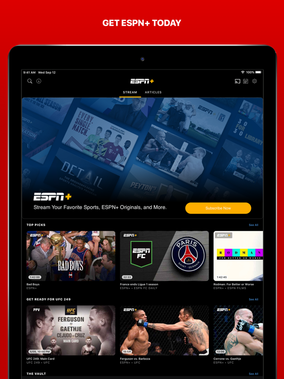 Screenshot #6 pour ESPN: Live Sports & Scores