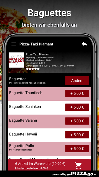 Pizza-Taxi Diamant Dortmund screenshot 6