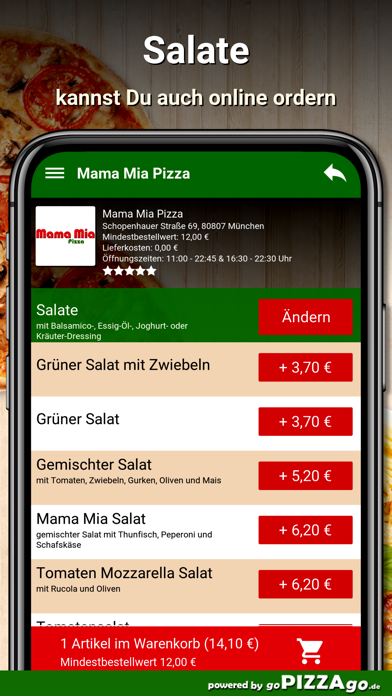 Mama Mia Pizza München screenshot 5