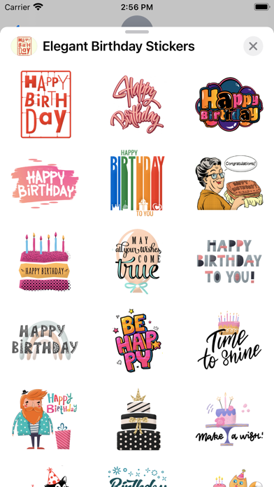 Elegant Birthday Stickers screenshot 2