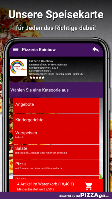 Pizzeria Rainbow Stockstadt screenshot 4