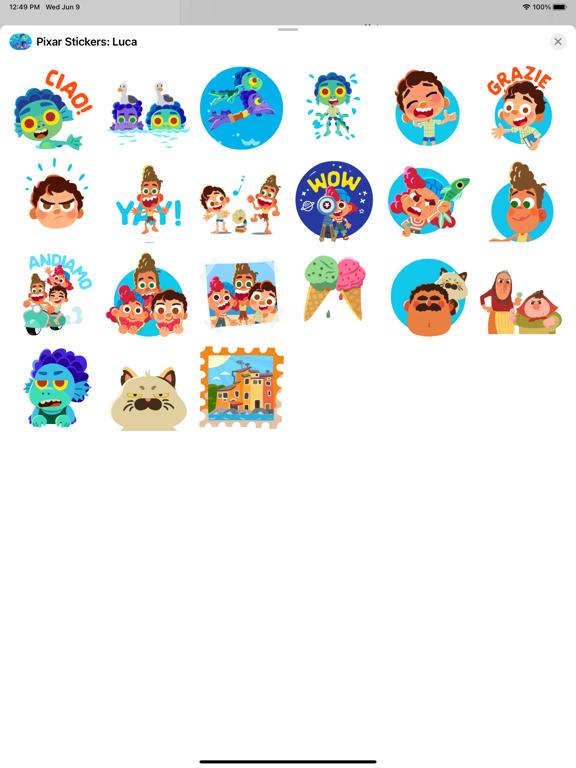 Pixar Stickers: Luca screenshot 6