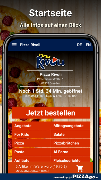 Pizza Rivoli Dresden screenshot 2