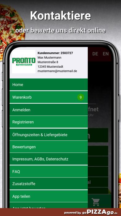 Pronto Pizzaservice Nürnberg screenshot 3