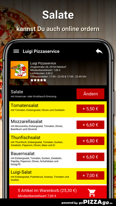 Luigi Pizzaservice Meldorf screenshot 1