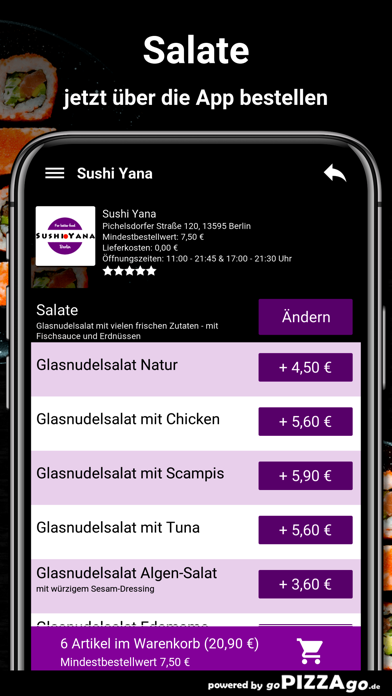 Sushi Yana Berlin screenshot 5