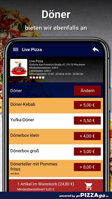 Live Pizza Pforzheim screenshot 6