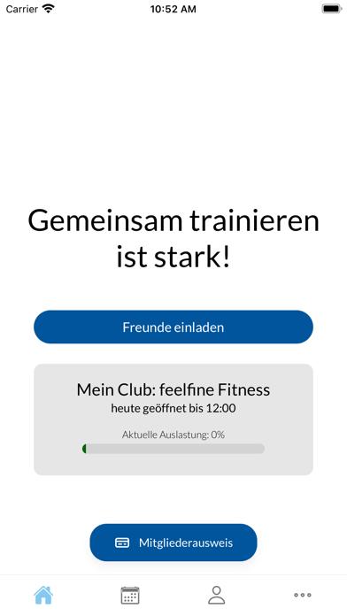 Clubapp feelfineFitness screenshot 1