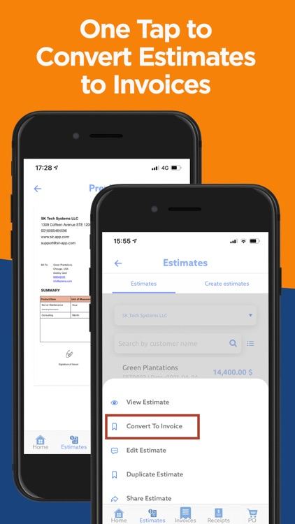 SIR: Invoice & Estimate Maker screenshot-2