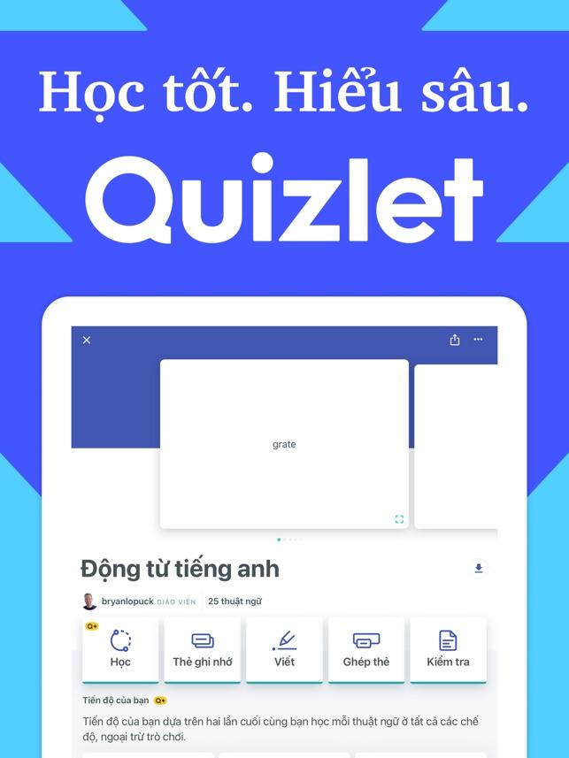 Quizlet: Học bằng thẻ ghi nhớ