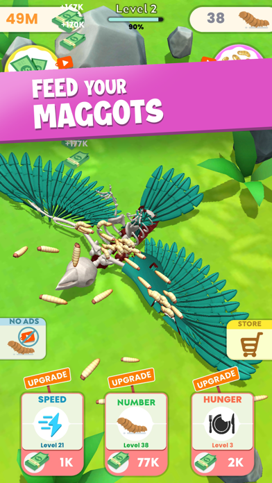 Idle Maggots - Simulator Game screenshot 1