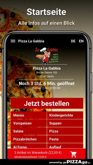 Pizza La Gabbia Berlin screenshot 2