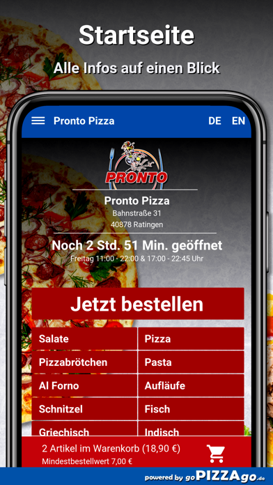Pronto Pizza Ratingen screenshot 2