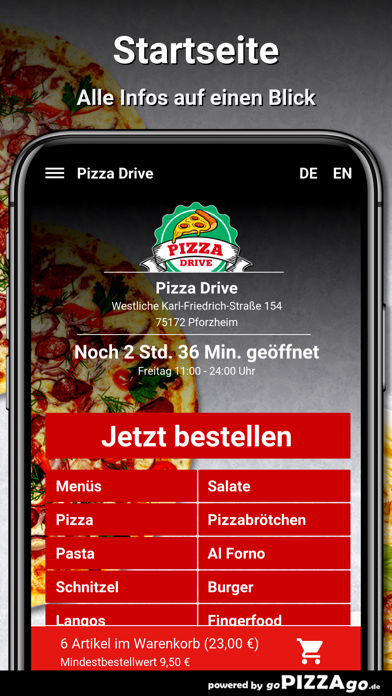 Pizza Drive Pforzheim screenshot 2
