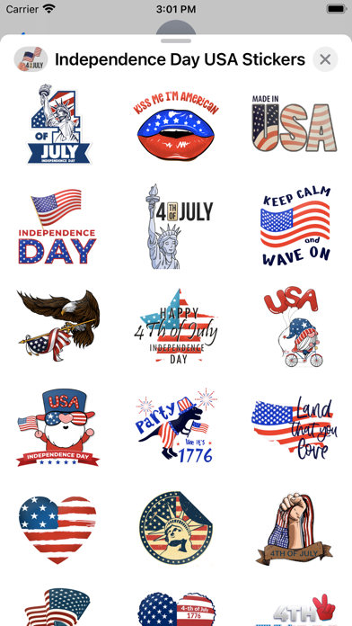 Independence Day USA Stickers screenshot 3