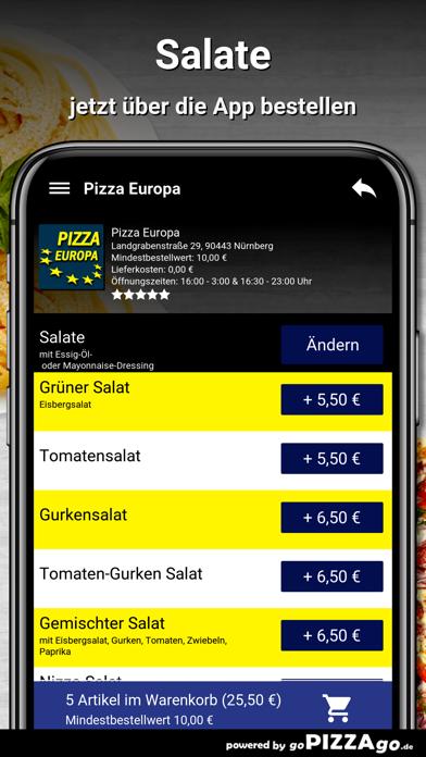 Pizza Europa Nürnberg screenshot 5