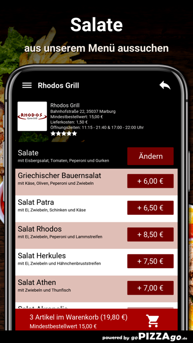 Rhodos-Grill Marburg screenshot 5