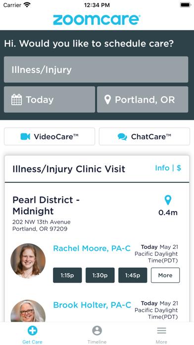 ZoomCare On-Demand HealthcareScreenshot of 1