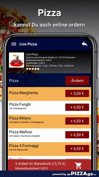 Live Pizza Pforzheim screenshot 5