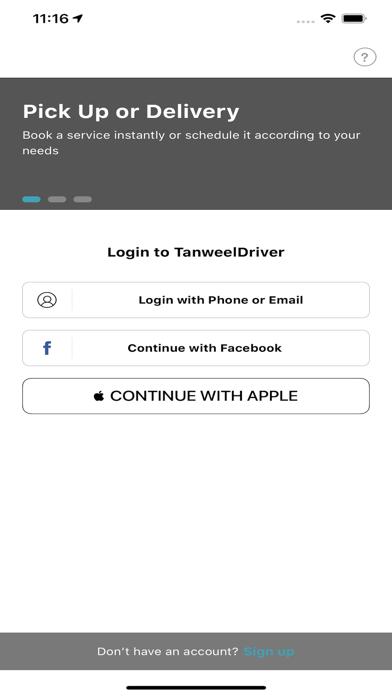 Tanweel Driver屏幕截图2