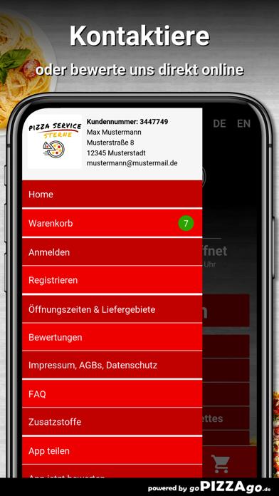 Pizza Service Sterne Günzburg screenshot 3