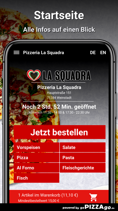 Pizzeria La Squadra Weinstadt screenshot 2