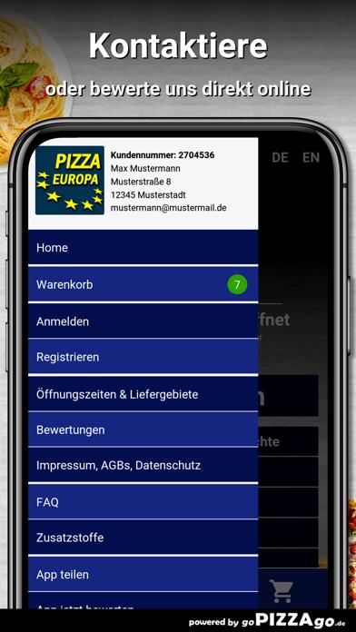 Pizza Europa Nürnberg screenshot 3