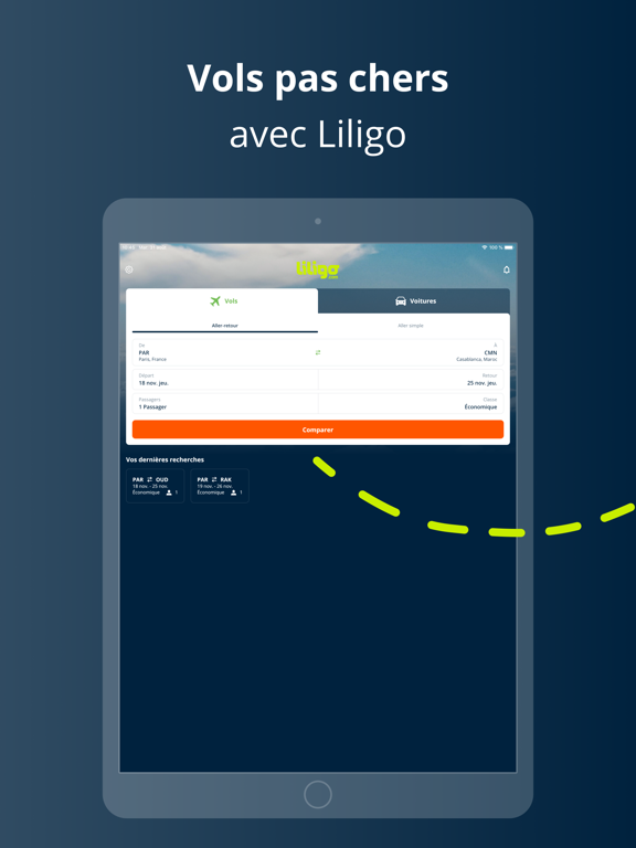 Liligo: Vol et voiture