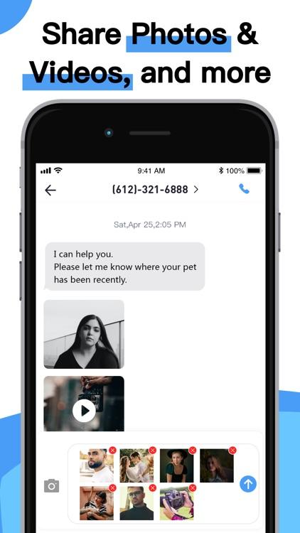 Phone Number-Text + Line Calls screenshot-6