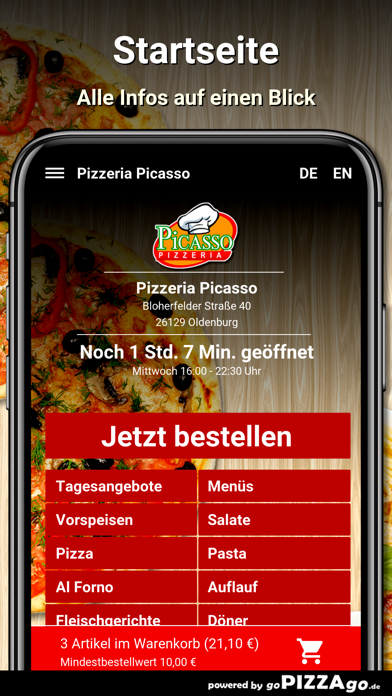 Pizzeria Picasso Oldenburg screenshot 2