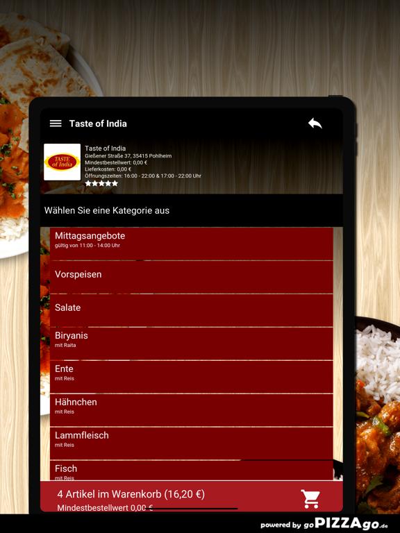 Taste of India Pohlheim screenshot 8
