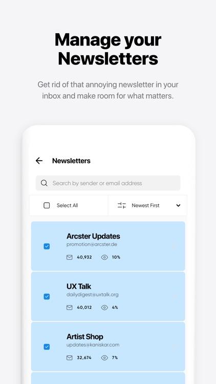 Instaclean - bulk mail cleaner screenshot-3