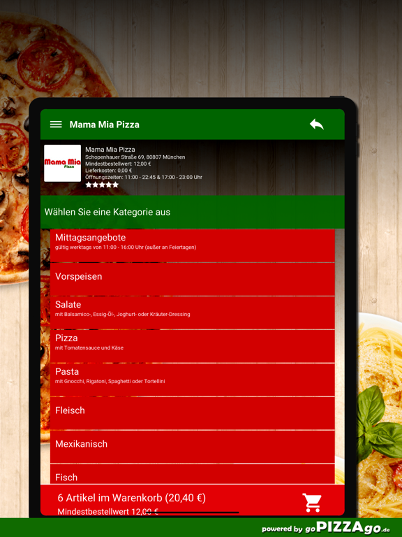 Mama Mia Pizza München screenshot 8