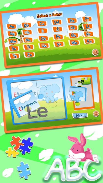 Alphabet ABC jigsaw flash card screenshot-3