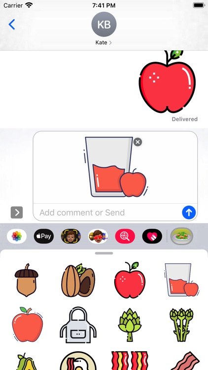 Mealtime Stickers pack