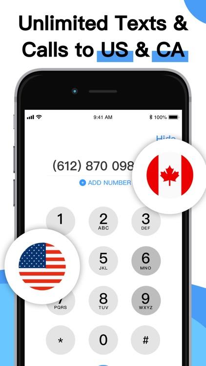 Phone Number-Text + Line Calls screenshot-3