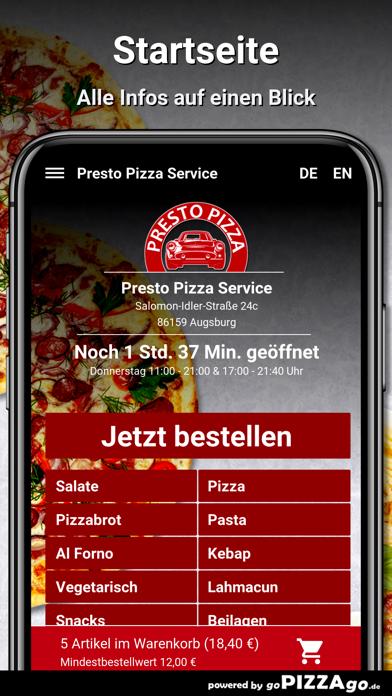 Presto Pizza Service Augsburg screenshot 2