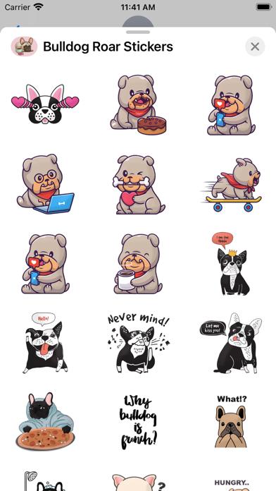 Bulldog Roar Stickers screenshot 2