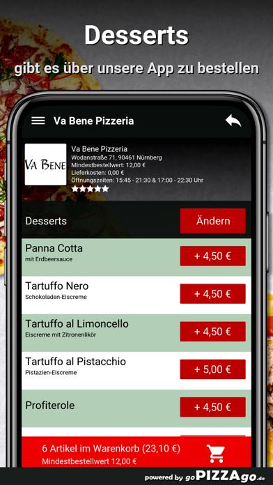 Va Bene Pizzeria Nürnberg screenshot 6