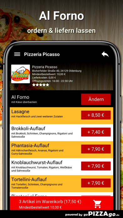 Pizzeria Picasso Oldenburg screenshot 6