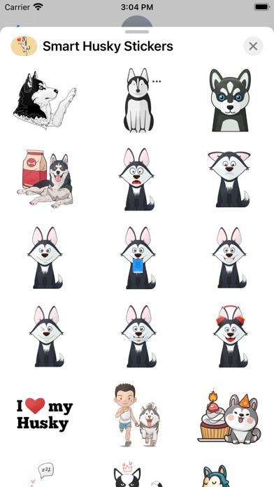 Smart Husky Stickers screenshot 3