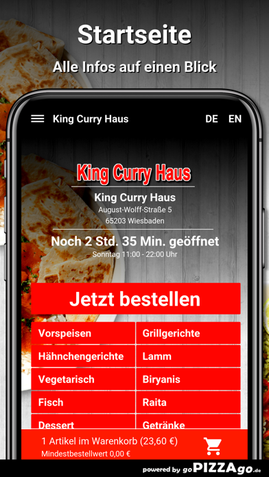 King Curry Haus Wiesbaden screenshot 2