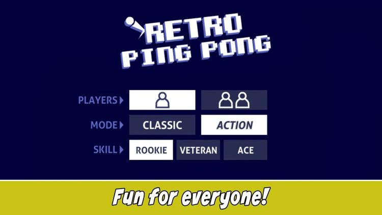 Retro Ping Pong screenshot-4