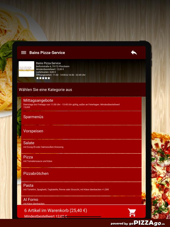 Bains Pizza-Service Pforzheim screenshot 8