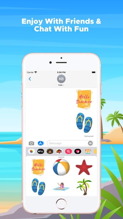 Summer Beach Emojis screenshot-3