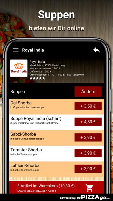 Royal India Cadolzburg screenshot 5