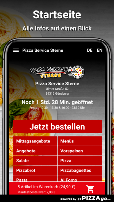 Pizza Service Sterne Günzburg screenshot 2
