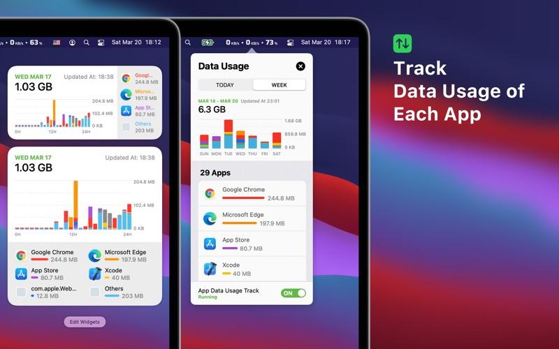 Network & Battery Screenshots