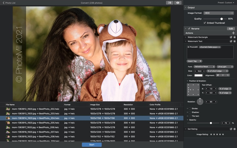 PhotoMill: The Image Converter Screenshots