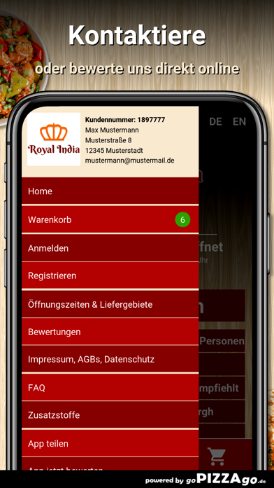 Royal India Cadolzburg screenshot 3